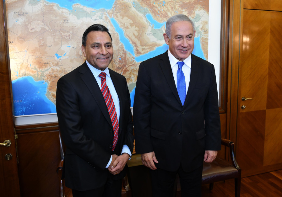 Harman President and CEO Dinesh Paliwal and Prime Minister Benjamin Netanyahu
