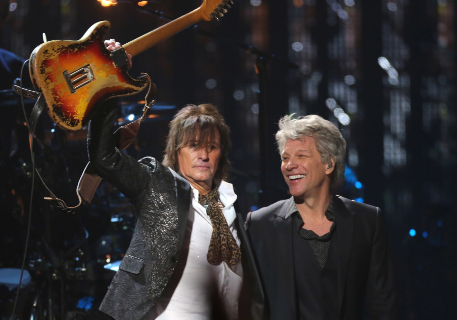 Rock & Roll Hall of Fame Induction – Show - Cleveland, Ohio, U.S., 14/04/2018 – Jon Bon Jovi (R) and