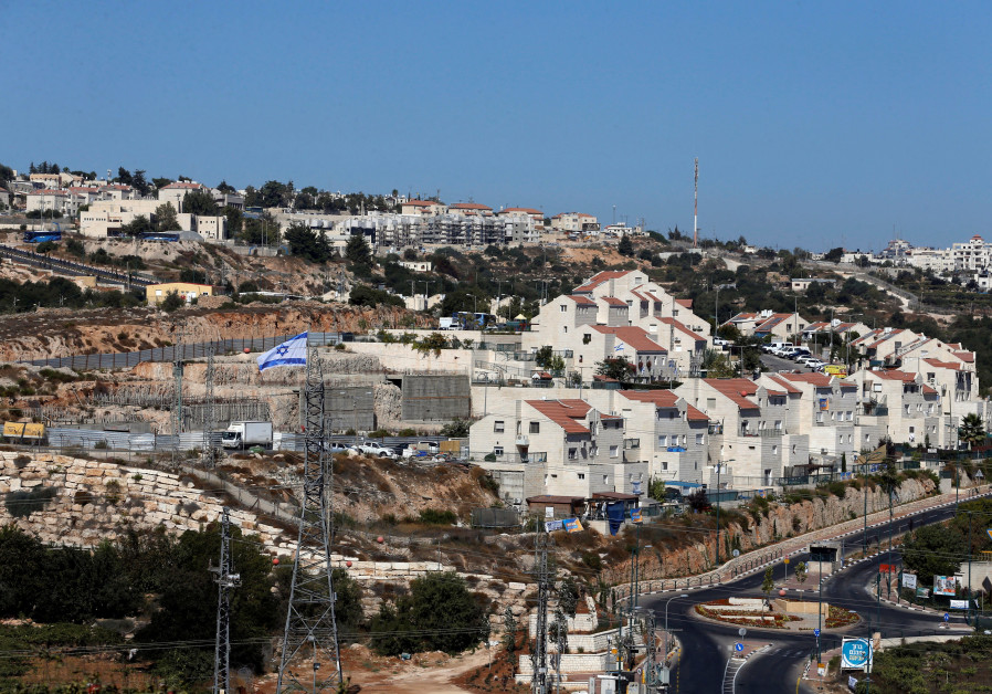 A general view shows the Jewish settlement of Kiryat Arba in Hebron, in the occupied West Bank Septe