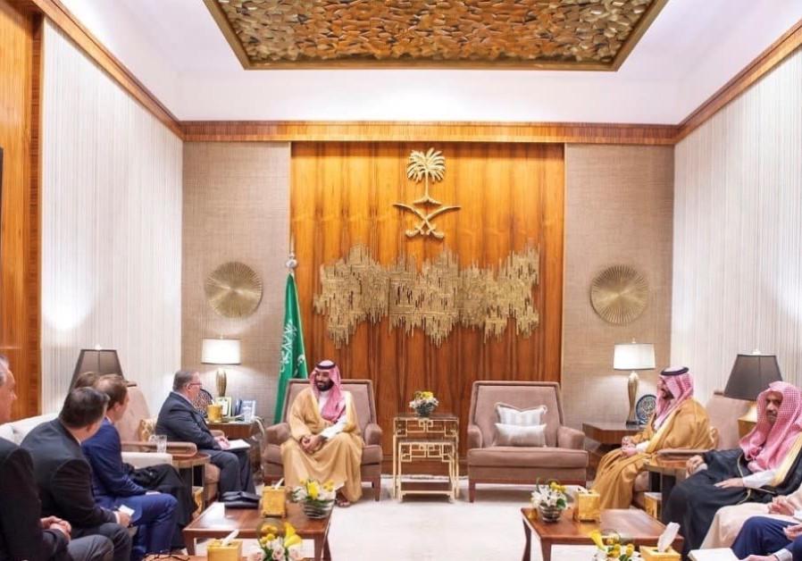 Crown Prince Mohammad bin Salman in his palace in Saudia Arabia
