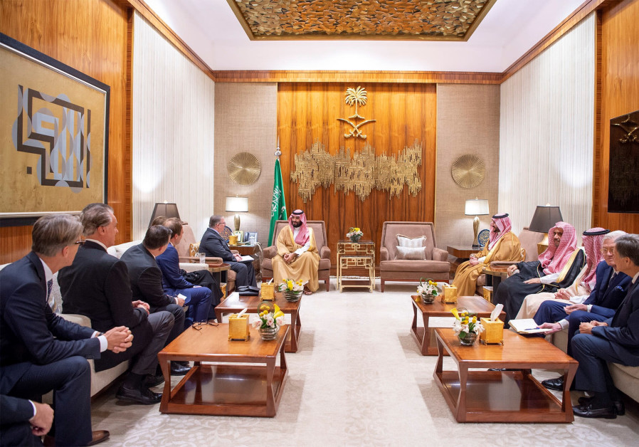 Saudi Crown Prince Mohammed bin Salman meets with the delegation of Evangelical Christian Leaders