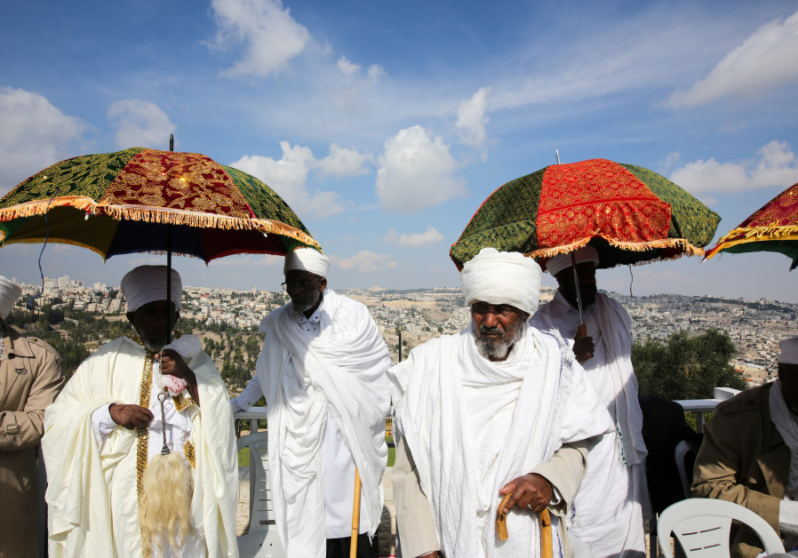 Ethiopian Jews celebrate Sigd overlooking the Old City of Jerusalem