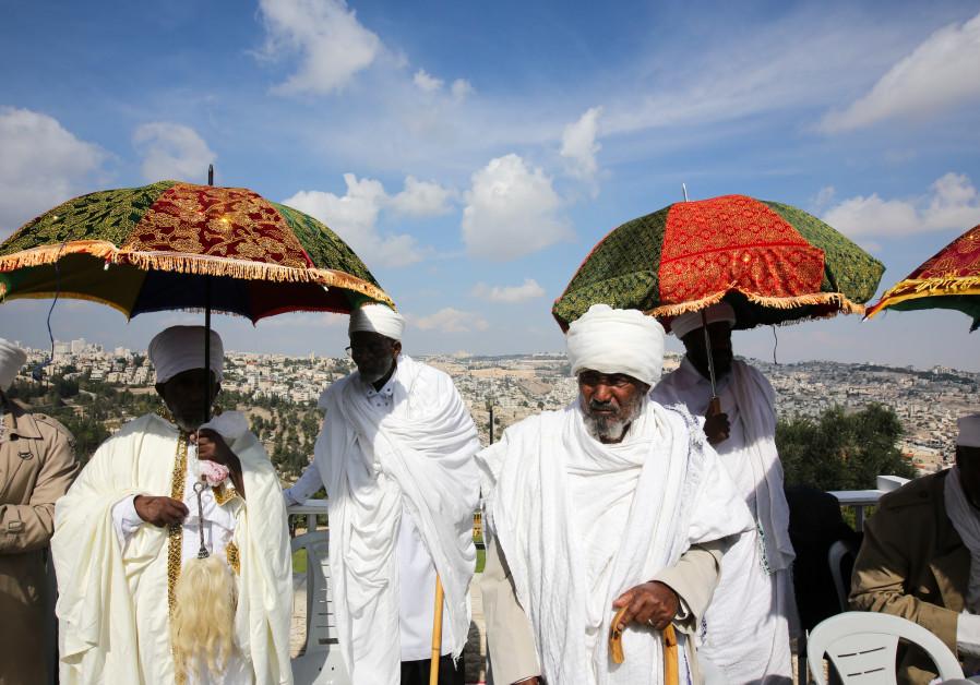 Ethiopian Jews celebrate Sigd overlooking the Old City of Jerusalem