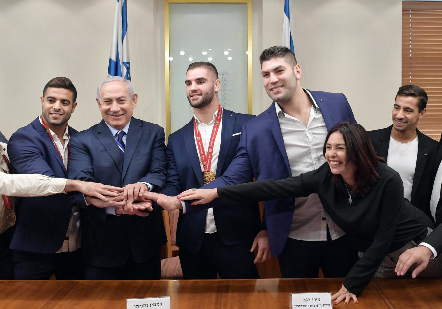 Israeli Judokas meet with Prime Minister Benjamin Netanyahu and Culture and Sports Minister Miri Reg