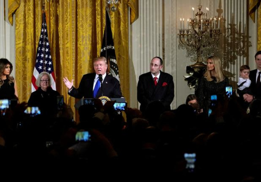 U.S. President Donald Trump hosts a Hanukkah Reception at the White House in Washington, U.S., Decem