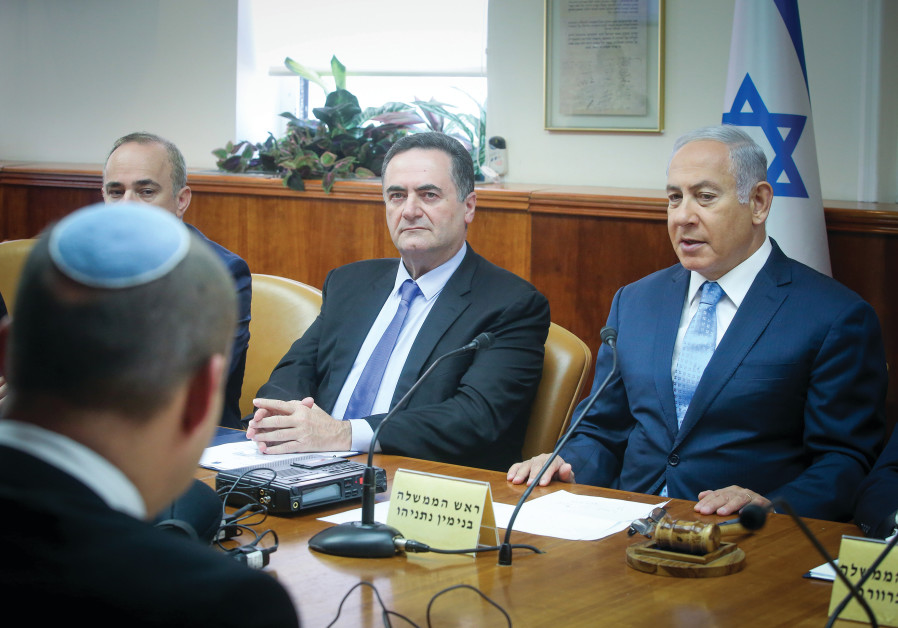 PRIME MINISTER Benjamin Netanyahu convenes his cabinet in Jerusalem. The election date is up to him.