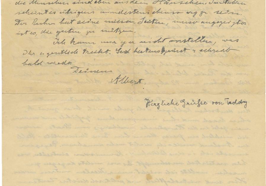 Letter Albert Einstein