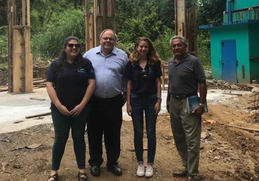 Consul to NY Dani Dayan visits an IsraAID site earlier this year