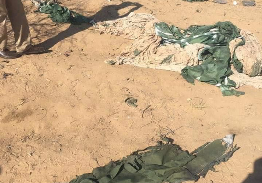An image released by Hamas, claiming to show the gear of an IDF soldier killed during an operation