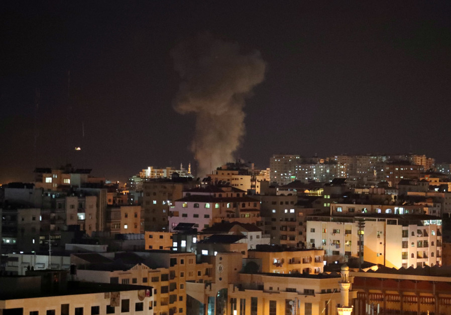 Hamas TV building destroyed by Israeli air strike after Gaza rocket exchange