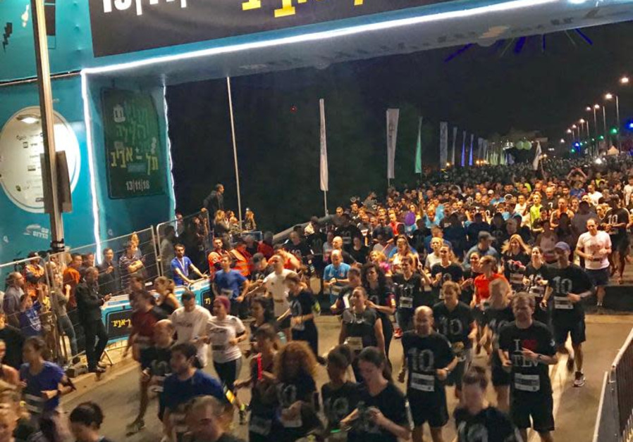 Tel Aviv Night Run goes ahead despite security situation in the South