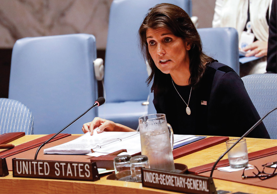 Haley blasts U.N. for equating Israel with Hamas in call for restraint