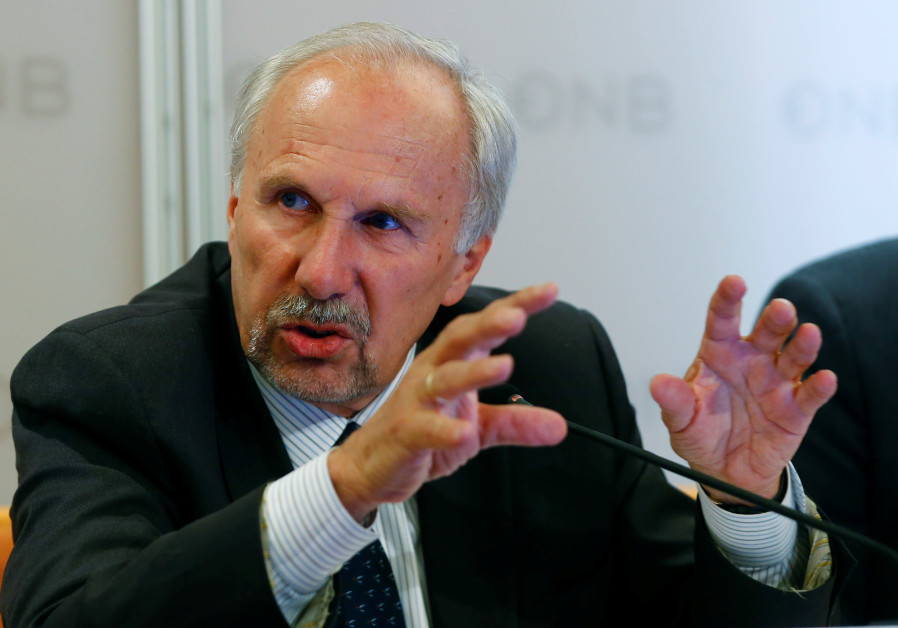 European Central Bank (ECB) Governing Council member and OeNB governor Ewald Nowotny addresses a new