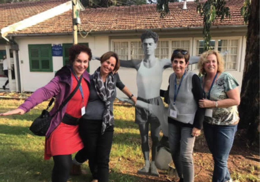 Myra Chack Fleischer, JNF Partner, Noa Gefen, Ann Zinman, and Nina Paul at the Ayalon Institute Unde