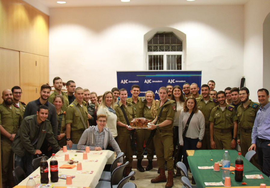 AJC Jerusalem hosted its 16th annual Thanksgiving Dinner for Lone Soldiers