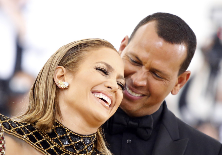 Singer Jennifer Lopez and baseball personality Alex Rodriguez arrive at the Metropolitan Museum of A