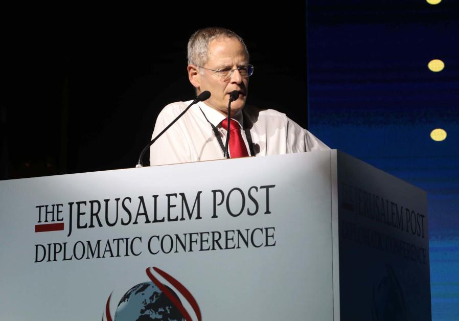 Prof. Michael Glikson speaks at The Jerusalem Post Diplomatic Conference, November 21, 2018