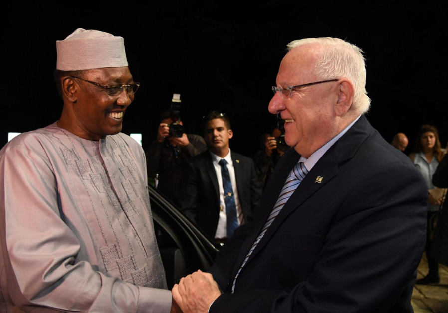 President Rivlin met the President of Chad Idriss Deby in Jerusalem in November 25, 2018