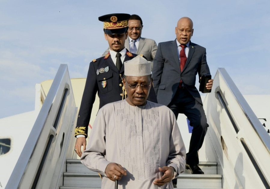 Chad's President Idriss Déby arrives at Ben-Gurion Airport on Sunday, November 25, 2018