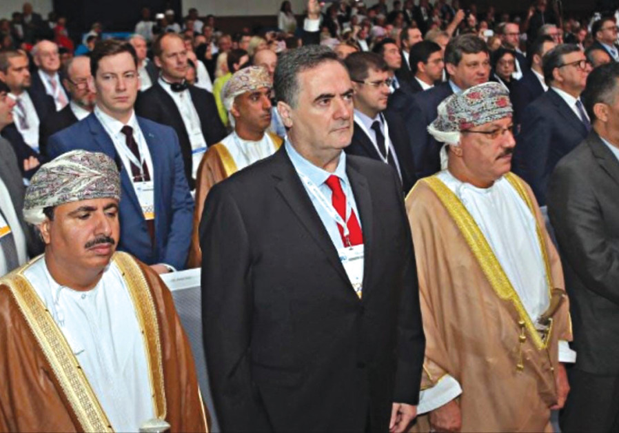 TRANSPORTATION AND Intelligence Minister Israel Katz in Oman earlier this month.