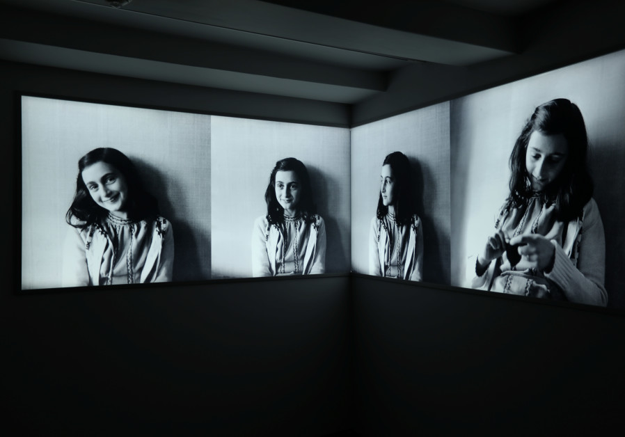hotos of Anne Frank are seen at Anne Frank House museum in Amsterdam, Netherlands, November 21, 2018