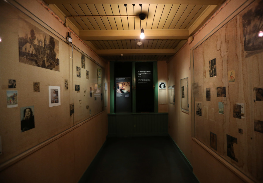 Photos are seen inside the Anne Frank House museum in Amsterdam, Netherlands, November 21, 2018.