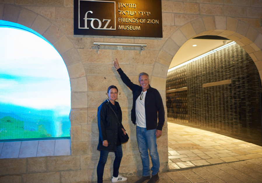 Pastor Young and his wife outside the FOZ Museum in Jerusalem