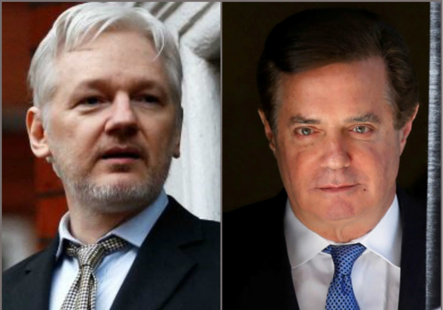 Wikileaks founder Julian Assange and Donald Trump's former campaign manager Paul Manafort