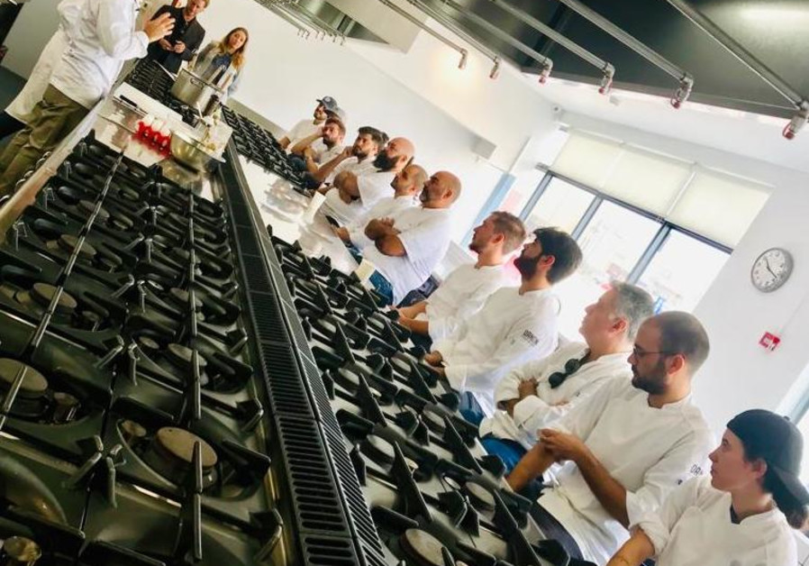 Italian chef Giancarlo Morelli gives a cooking class in Israel