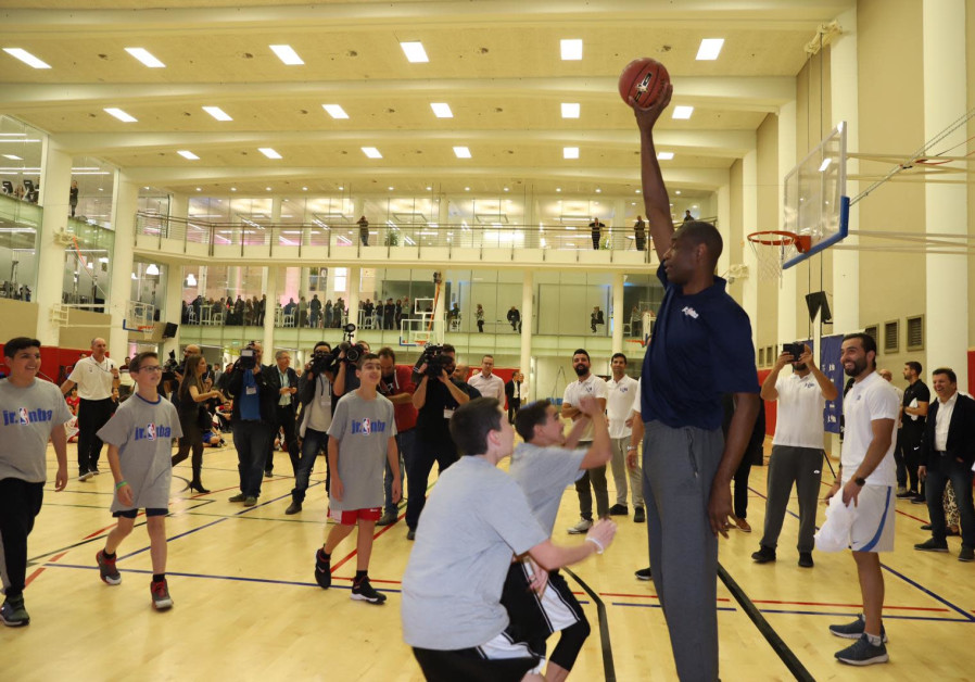 Hoopster superstar Dikembe Mutombo inaugurates the Jr. NBA in Israel
