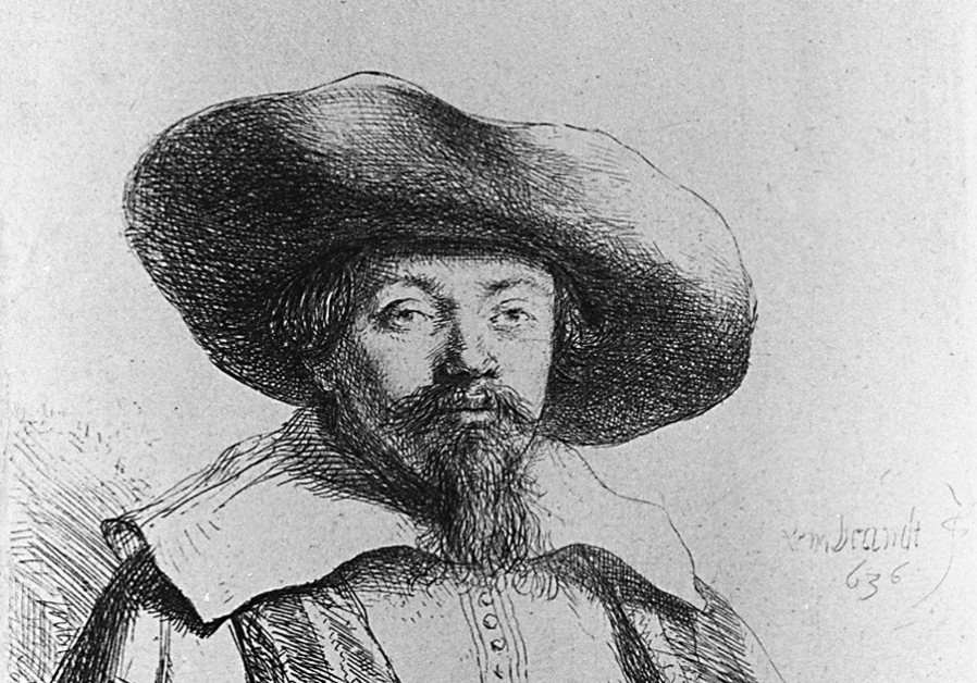 AN ETCHING of Menasseh ben Israel made by Rembrandt in 1636