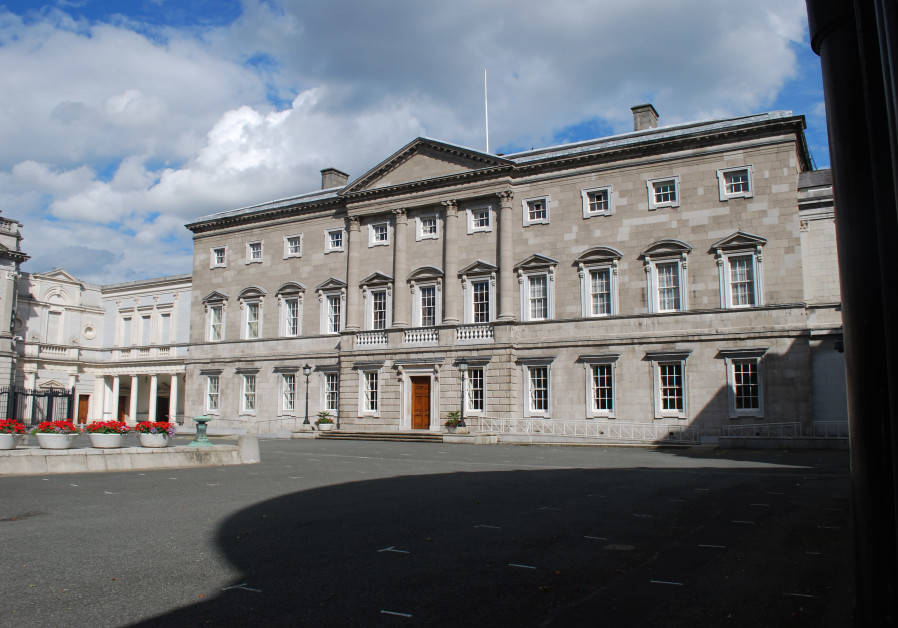 Main façade of Leinster House where the Irish Senate meets
