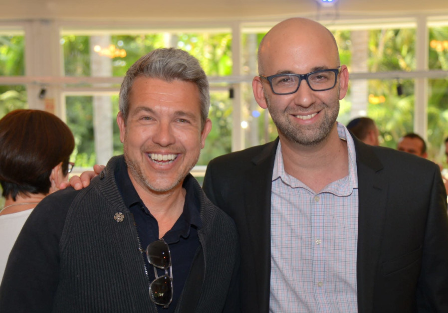 The Israeli strategists who helped win the Georgian election, (l-r) Sefi Shaked and Moshe Klughaft