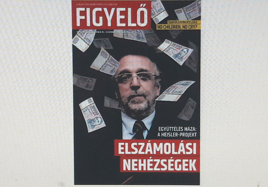 The magazine portraying Andras Heisler in what has been seen as an antisemitic manner