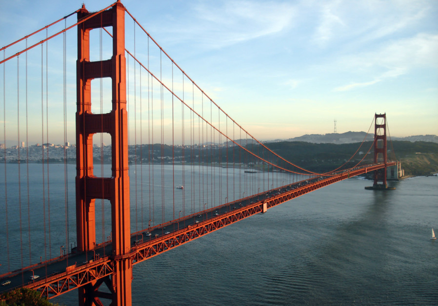 California's Golden Gate Bridge, near San Francisco