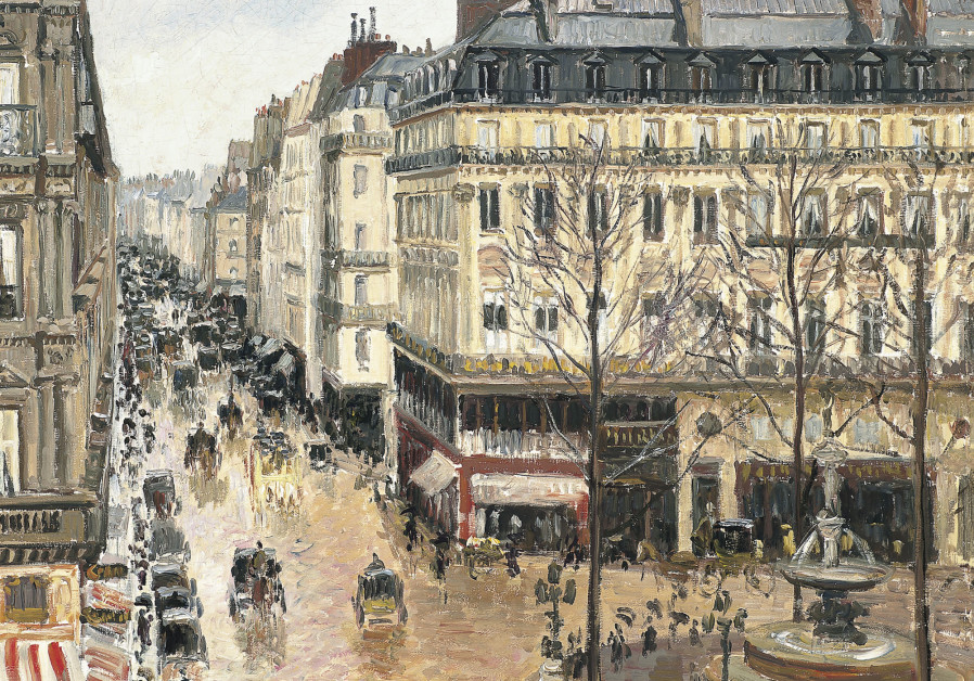 Camille Pissarro's Rue Saint-Honore in the Afternoon. Effect of Rain