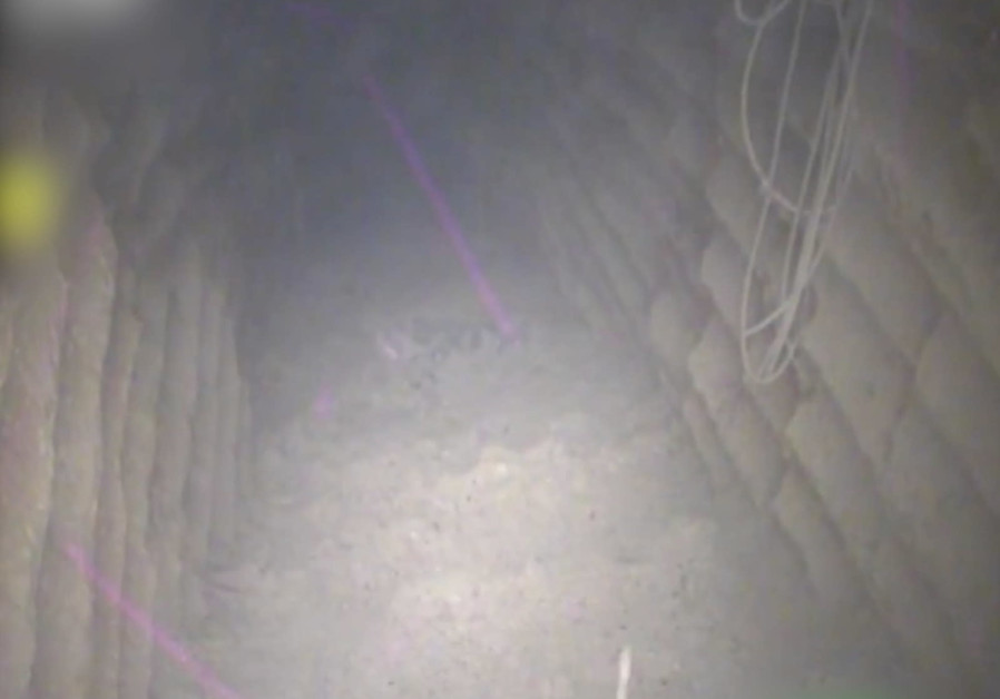 A Hezbollah attack tunnel reaching from Lebanon into Israel destroyed by the IDF, December 4th, 2018 (Credit: IDF Spokesperson's Unit)