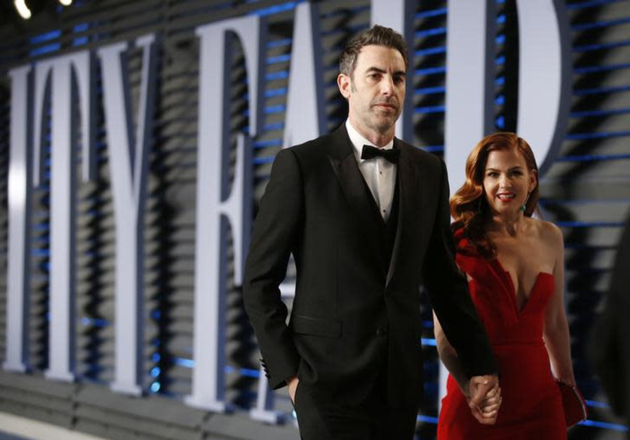Actress Isla Fisher and her husband actor Sacha Baron Cohen