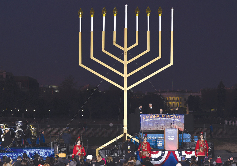 The Hanukkah menorah and American symbolism