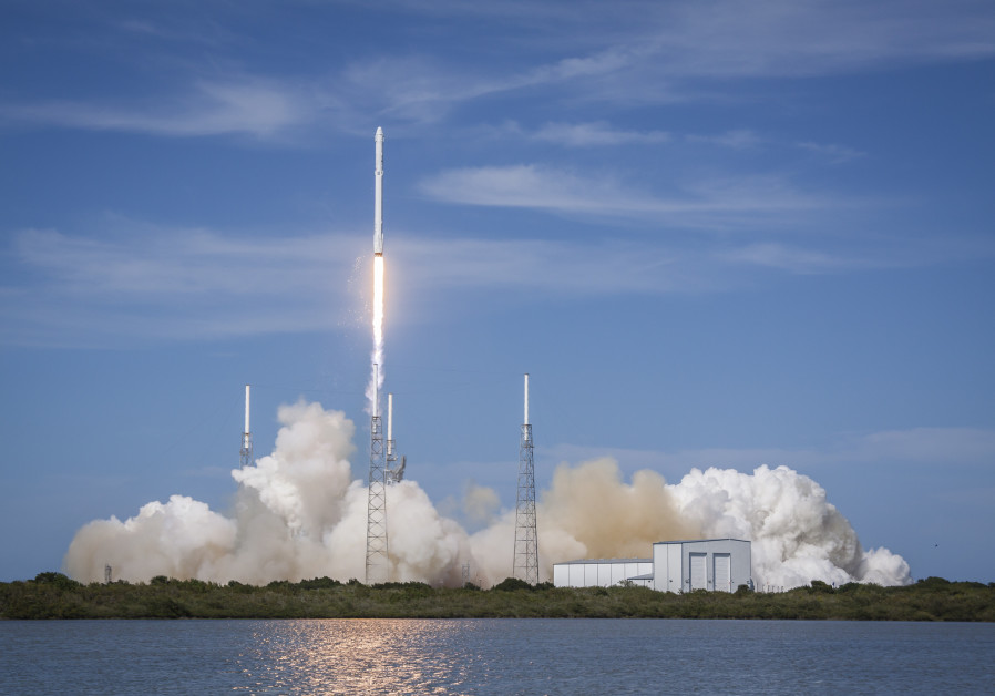 The Falcon 9 CRS-6 Dragon takes off from Vandenberg Air Force Base off the coast of California on Mo