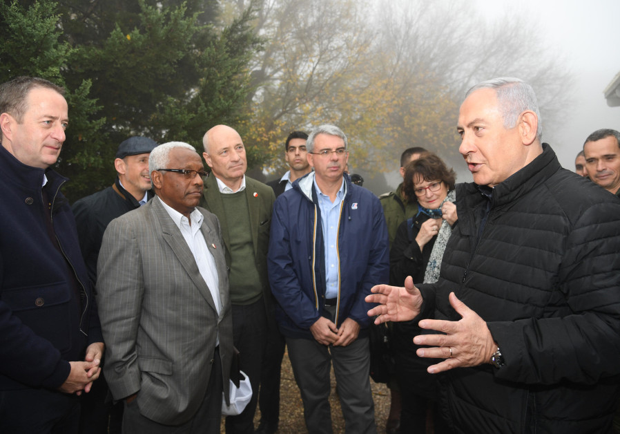 Prime Minister Benjamin Netanyahu met with foreign ambassadors in the northern sector near IDF force