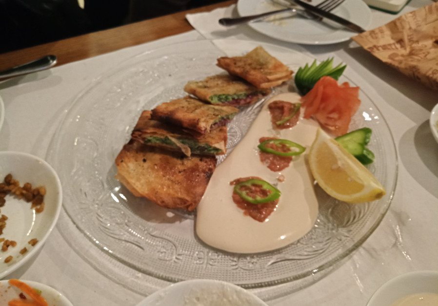 Fish Lachmajoun by chef Salah Kurdi