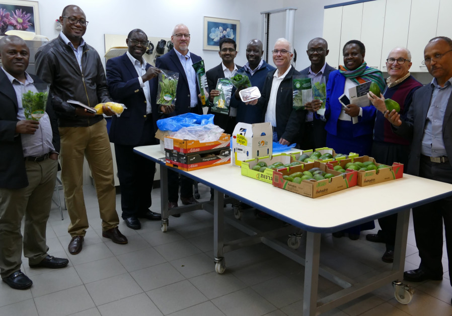 Representatives from African States, exploring Israeli technology regarding food production, 2018.