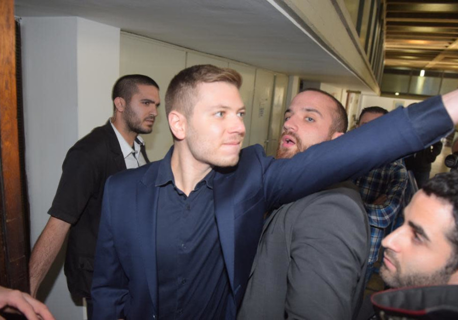 Yair Netanyahu arrives at court, December 10th, 2018