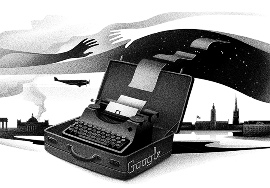 Google Doodle in honor of Nelly Sachs