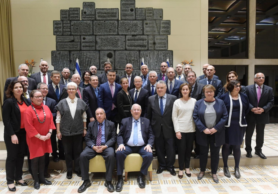 President Rivlin meeting Israeli heads of diplomatic missions in Europe, 10 December 2018.