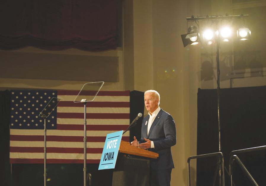 FORMER US vice-president Joe Biden speaks in Iowa in October.