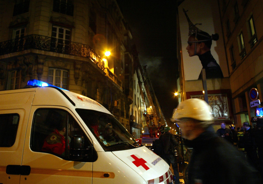 French ambulance in Paris, France, 2005.