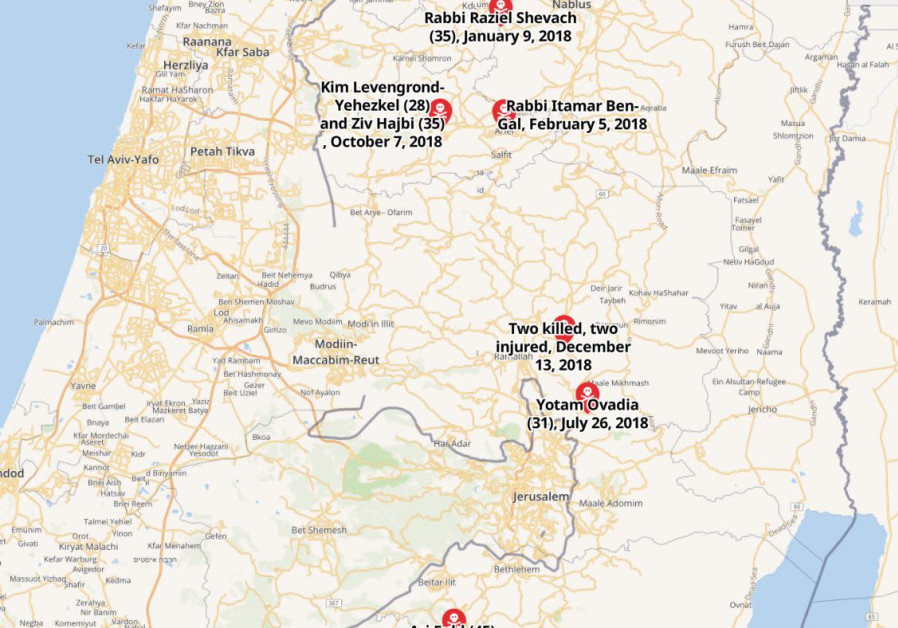Map: Is Israel facing a new terror wave? West Bank attacks in 2018