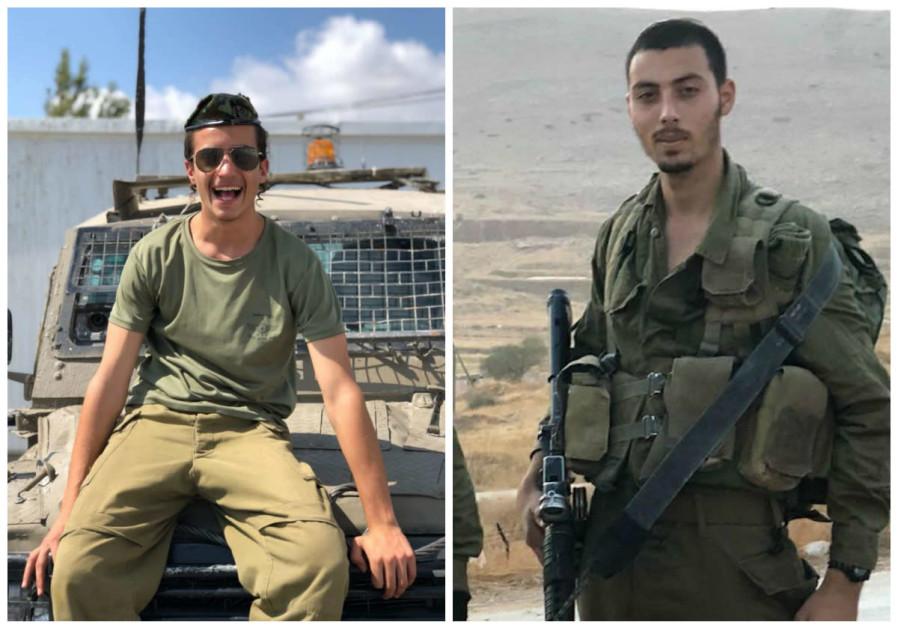 Corporal Yosef Cohen (L) and Sergeant Yuval Mor Yosef (R)
